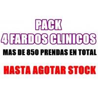 PREVENTA PACK 4 FARDOS UNIFORMES CLINICOS